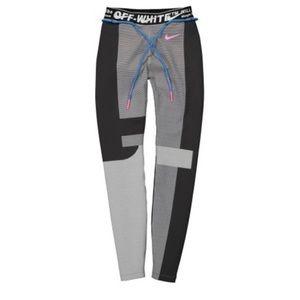 OFF-WHITE x NIKE EASY RUN TIGHT VAST GREY LEGGINGS